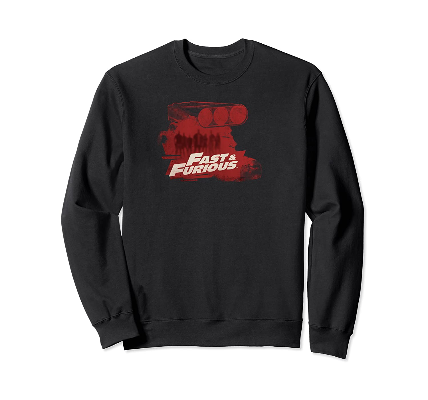 Fast Furious Exposed Engine Logo Ted Shirts Crewneck Sweater
