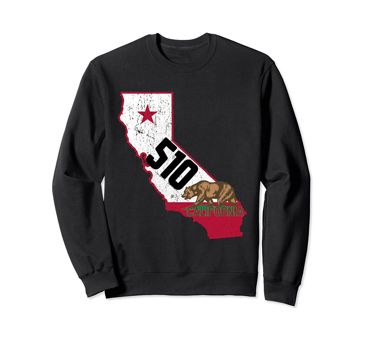 Oakland Area Code 510 California Distressed Gift Shirts