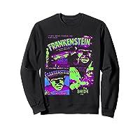 Frankenstein Colorful Collage Vintage Horror Movie Shirts Sweatshirt Black