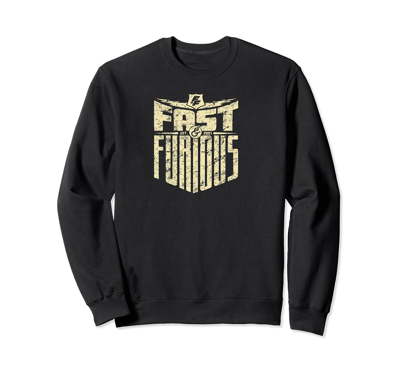 Fast Furious Cool Shield Logo Ted Shirts Crewneck Sweater