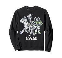 Disney Pixar Toy Story Woody Buzz Bullseye Fam Shirts Sweatshirt Black