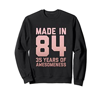 Image Unavailable Not Available For Color 35th Birthday Sweatshirt Mom 35 Year Old Women Gifts Auntie