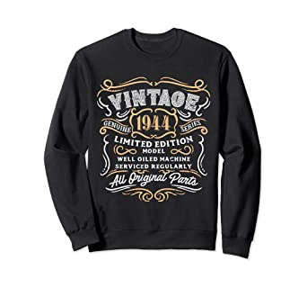 Image Unavailable Not Available For Color Vintage 1944 Sweatshirt Retro 75th Birthday Gift Dad
