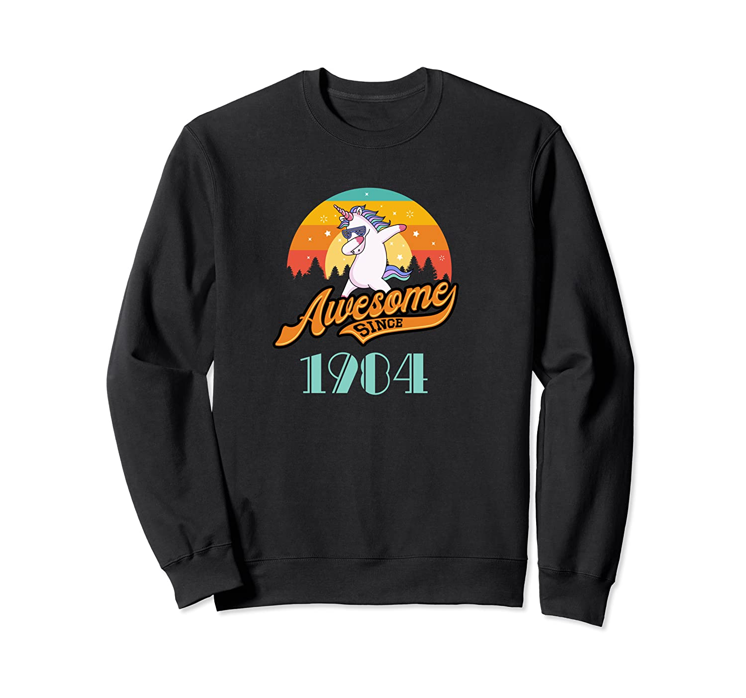 Awesome Since 1984 Year Of Birth Birthday Gift Shirts Crewneck Sweater