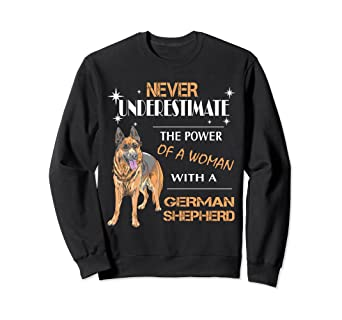 3f2a19b2bde Image Unavailable. Image not available for. Color  Woman With A German  Shepherd Sweatshirt