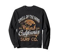 Retro Surf Shirt California Surfer Gift Cali Sweatshirt Black