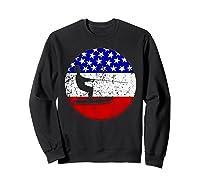 American Flag Waterskiing Vintage Retro Waterskiier Shirts Sweatshirt Black