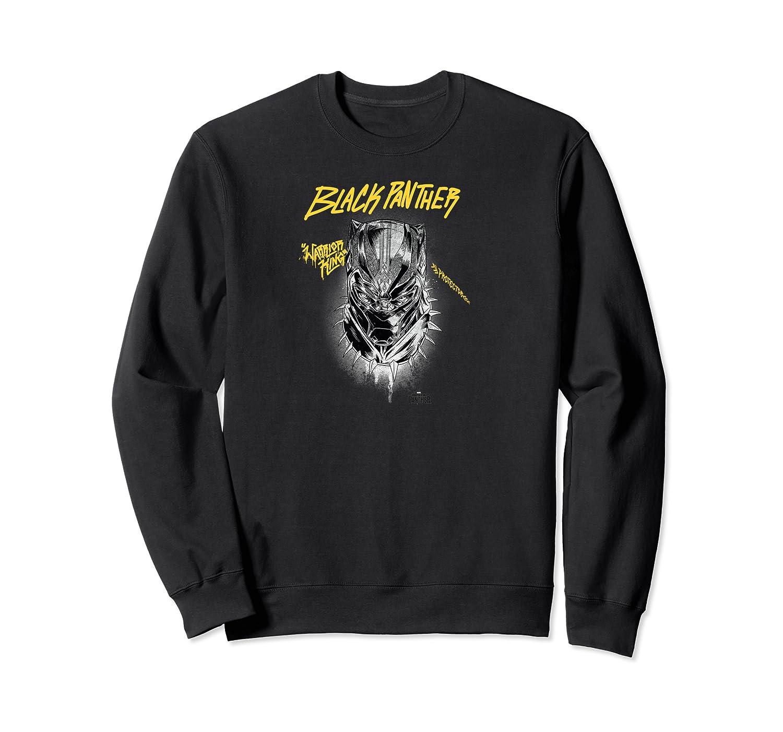 Marvel Black Panther Movie Warrior King Gold Grafi Shirts Crewneck Sweater
