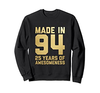 Image Unavailable Not Available For Color 25th Birthday Sweatshirt Women Gift Age 25 Year Old Daughter