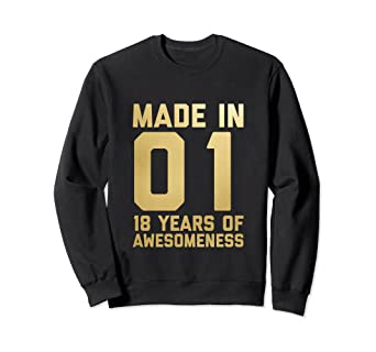 Amazon 18th Birthday Sweatshirt Girls Gift Age 18 Year Old
