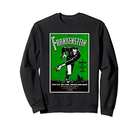 222e3667cf2f Image Unavailable. Image not available for. Color  Frankenstein Monster  Vintage Movie Poster Halloween Sweater