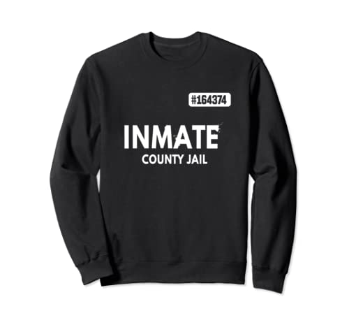 Inmate County Jail Prisoner Halloween Party Costume Uniform Sweatshirt