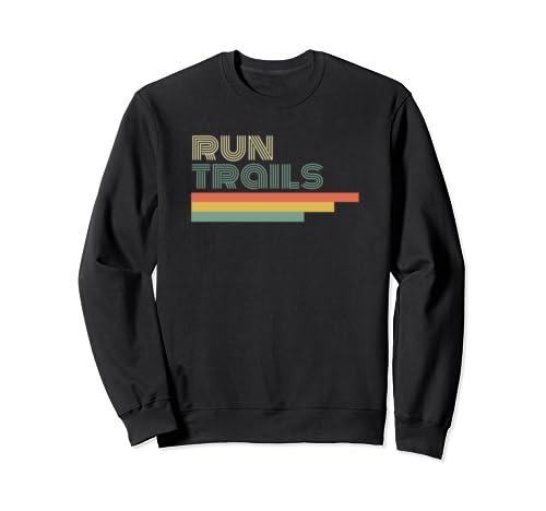 Ultra Runner Gifts Trail Running Gear Vintage Retro Sweatshirt
