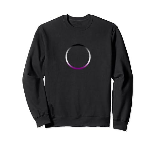Asexual Pride Flag Colors Ring Circle  Sweatshirt