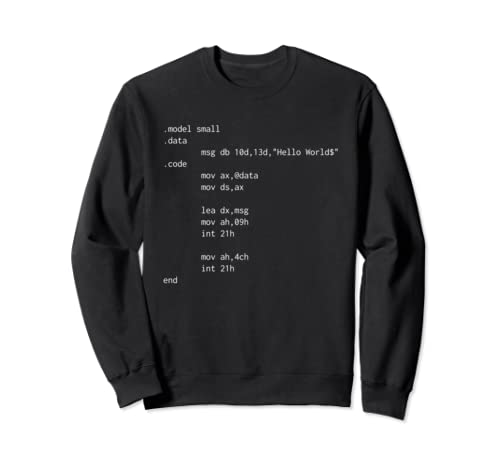 Hello World Funny Programer Assembly Code Sweatshirt
