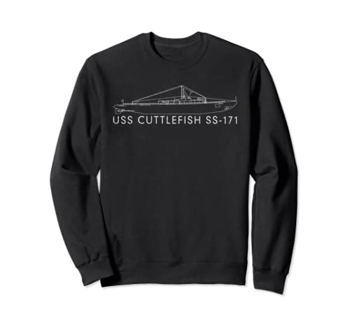 Uss Cuttlefish Ss 171 Submarine American Ww2 Blueprint Gift Sweatshirt