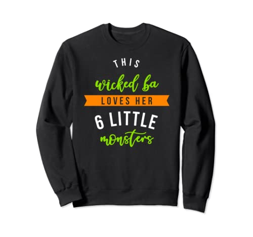 Wicked Ba 6 Monsters Shirt Halloween Family Sweatshirt