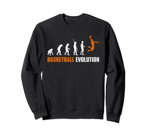 Evolution Basketball Slam Dunk Jump Team Gift  Sweatshirt