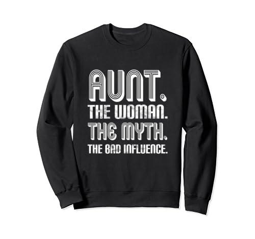 Aunt Bad Influence Vintage Family Matching Christmas Advent Sweatshirt