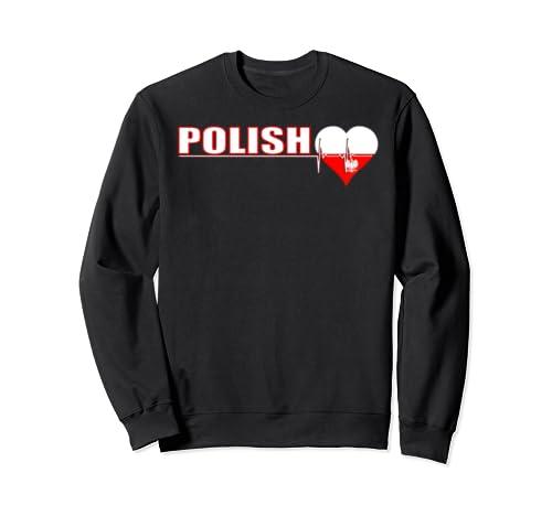 Polish Culture Family Roots Heartbeat Poland Citizen Sweatshirt