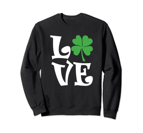 Saint Patrick's Day Love Lettering Sweatshirt