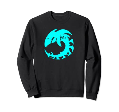 Maori Shark Skeleton Native Animal Folk Art  Sweatshirt