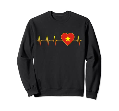 Vietnamese Heartbeat I Love Vietnam Flag Heart Pulse Gift Sweatshirt