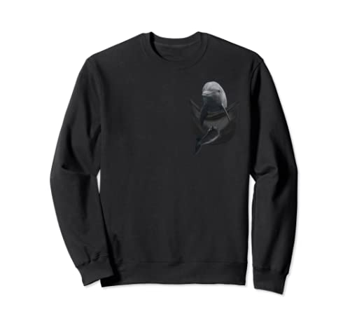Funny Sea Dolphin In Your Pocket Sweatshirt