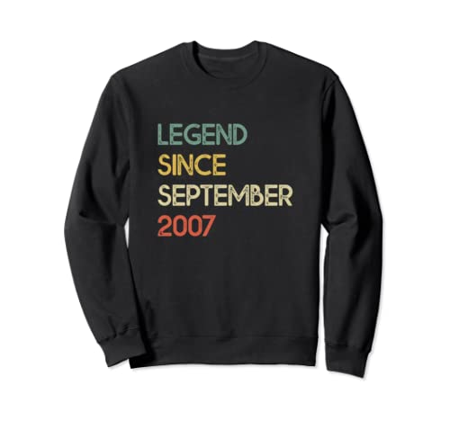 Legend Since September 2007 12th Birthday Gifts 12 Year Old Sweatshirt
