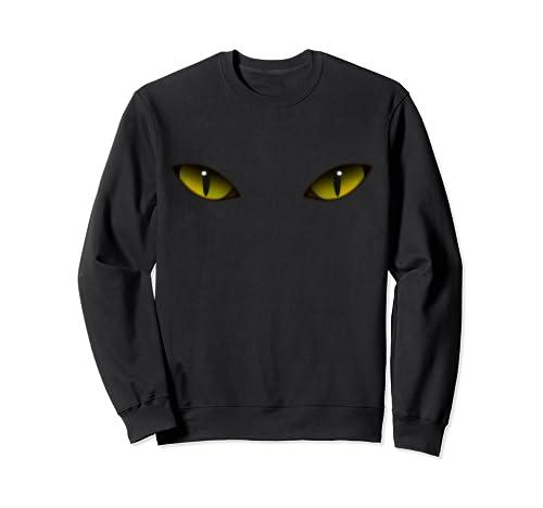 Halloween Costume Yellowy Cat Eyes Spooky Halloween Horror  Sweatshirt