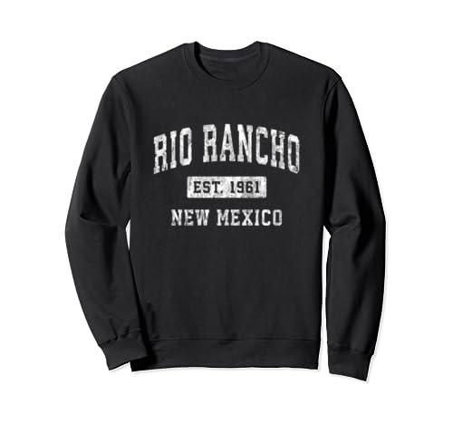 Rio Rancho New Mexico Nm Vintage Established Sports Design Sweatshirt