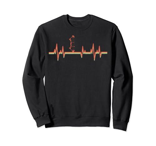 Bow Hunting Vintage Retro Heartbeat Gift Sweatshirt