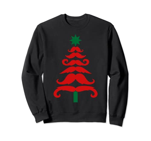 Mustache Christmas Tree Sweatshirt