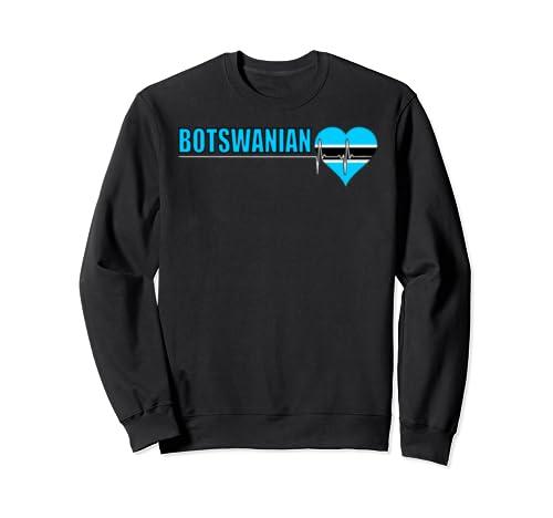 Botswanian Culture Family Roots Heartbeat Botswana Country Sweatshirt