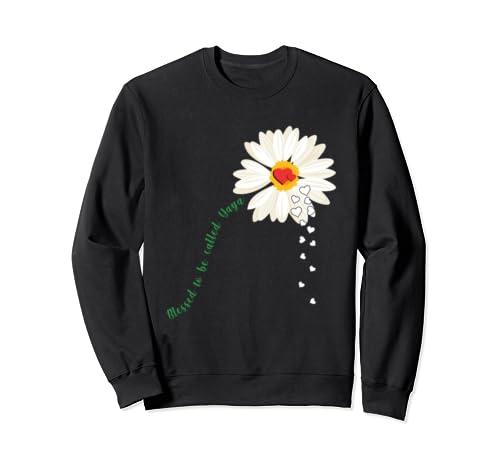 Flower Blessed To Be Called Yaya Funny Yaya Gift Sweatshirt