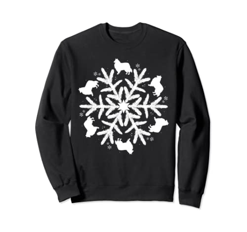 Collie Sweatshirt Christmas Snowflake Shirt