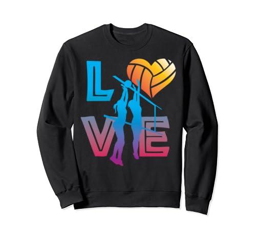 Love Volleyball Love Balling Gift Design For Women Sweatshirt