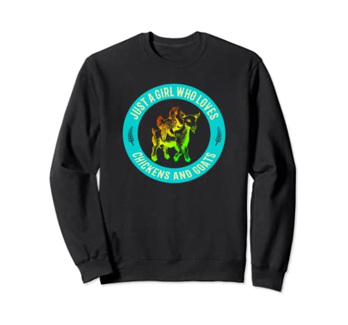 Funny Chicken And Goat Art For Farmers Lovers Sweatshirt