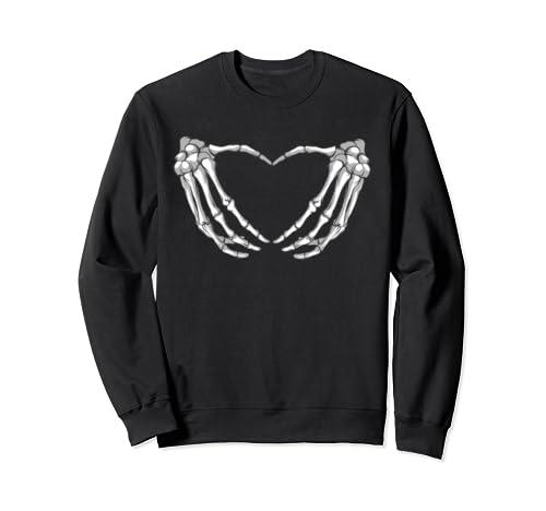 Skeleton Heart Sign Halloween Costume Love Skeletons Sweatshirt