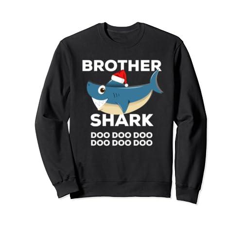 Brother Shark Christmas   Matching Family Christmas Sweatshirt