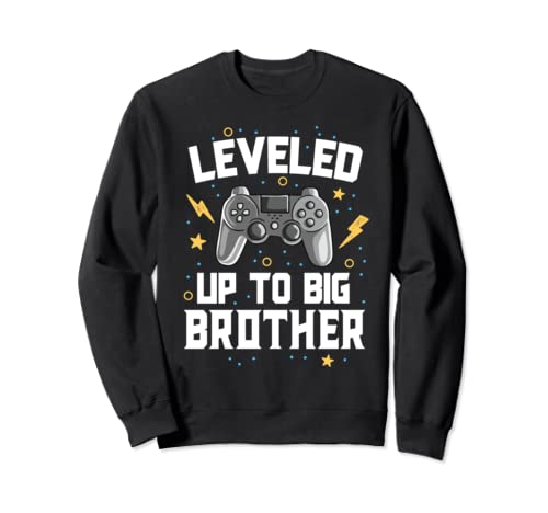 Leveled Up To Big Brother Baby Announcement Gaming Gamer Sweatshirt
