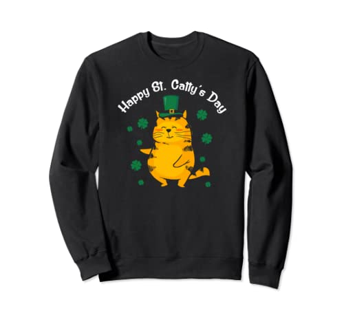 Cute Happy St. Catty's Day St. Patrick's Day 2020 Sweatshirt