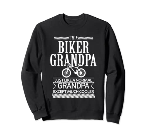 Biking Grandpa   Much Cooler Sweatshirt