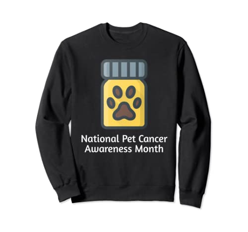 Pet Cancer Awareness Month For Dog, Cat, Pets Animals Owners Sweatshirt