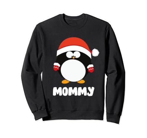 Santa Mommy Penguin Christmas Family Matching Costume Gift Sweatshirt