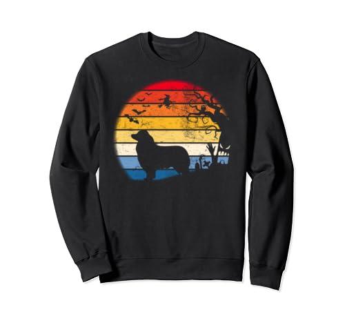 Toy Australian Shepherd In Moon Retro. Gift For Halloween Sweatshirt