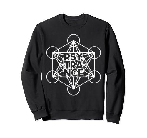 Psytrance Shirt, Rave Trance, Metatrons Cube Sacred Geometry Sweatshirt