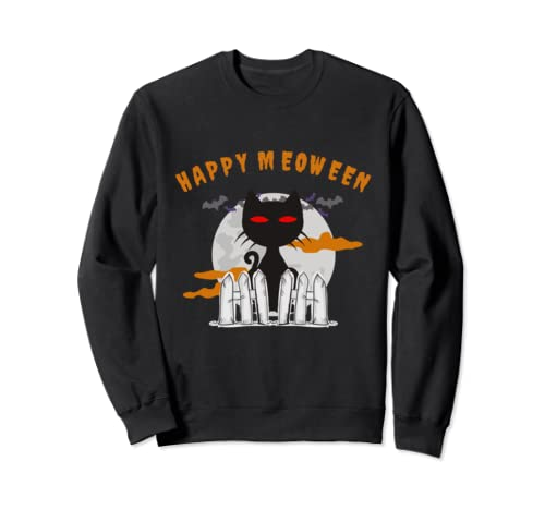 Funny Scary Cat Motive   Halloween Party Costume Sweatshirt