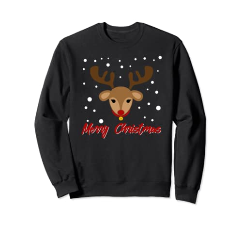 Matching Couples Merry Christmas Reindeer Family Christmas Sweatshirt