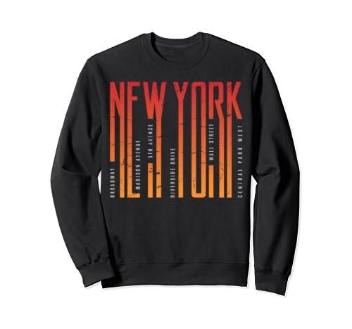 New York City Avenues T Shirt, New York City Sweatshirt